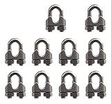 Skkxy Morsetto a U in acciaio INOX M6per cavi metallici, 6 mm - 10 pezzi
