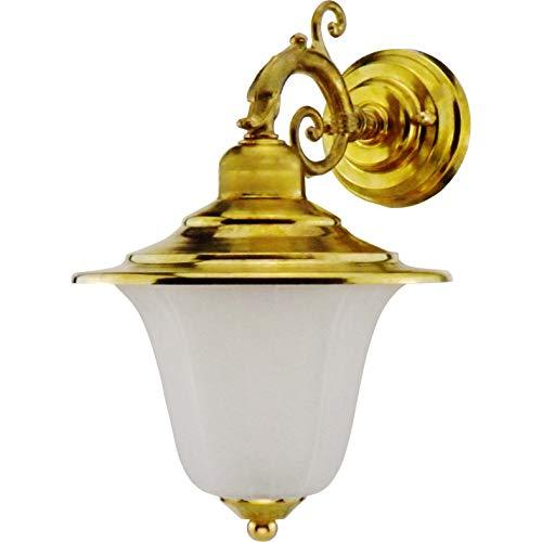 Roma - Lampada applique da parete da muro costruire dall\' ottone per esterni o per interni illuminazione per marina, nautica barca vintage retrò leggero luce LED sconce industr