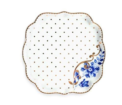 """Teebeutelablage aus Porzellan \""""Royal\"""" in weiss von PIP STUDIO, Ø 10cm, 51.013.014"""
