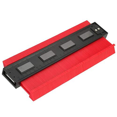 10-Zoll-Kunststoff-Konturmessgerät, multifunktionales Profilmessgerät, Form-Duplikator, Präzise unregelmäßige Formen für perfekten Sitz und einfaches Schneiden(Rot)