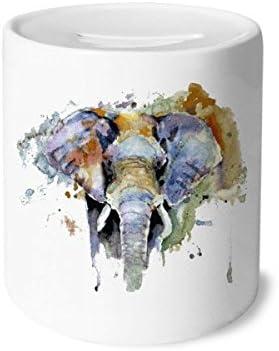 DIYthinker Elephant personnalité Peint Animaux Tirelire en en en céramique banques d'épargne-Monnaie  s Adultes 3,5 Pouces de Hauteur, 3,1 Pouces de diamètre Multicolore 741f64