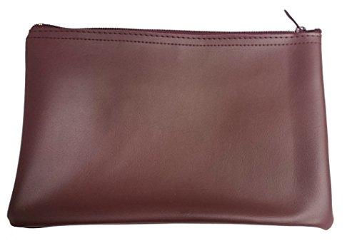 2 Elegante Banktaschen Utensilien-Taschen Geldscheintaschen aus Kunstleder ohne Logo, Farbe: Schwarz - Weinrot Bordeaux
