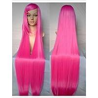 BBDM parrucche di alta qualità cosplay parrucca rosa della donna super-lunghi rettilinei animati parrucche di capelli sintetici parrucche del , pink