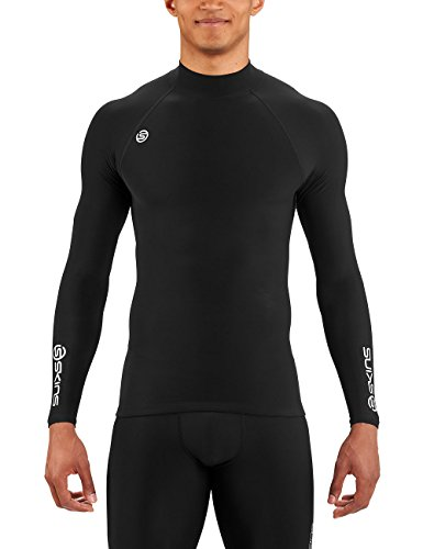 Skins Herren dnamic Team Thermo Top mit Mock Hals M schwarz (Mock Hals)