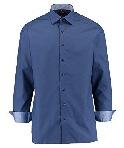 Olymp - Camicia da uomo modern fit a maniche lunghe Luxor Blu scuro