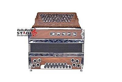 """Steirische Harmonika Alpen Modell """"Haselnuss"""" G C F B"""