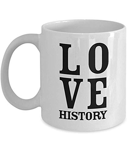 Taza Regalos para amantes de la historia Aficionados Maestros Profesores Nerds Mayores Estudiante - Mordaza divertida Regalos únicos para historiadores Taza de café