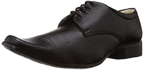 Vokstar Men's Black Formal Shoes - 8 UK (V-6115)