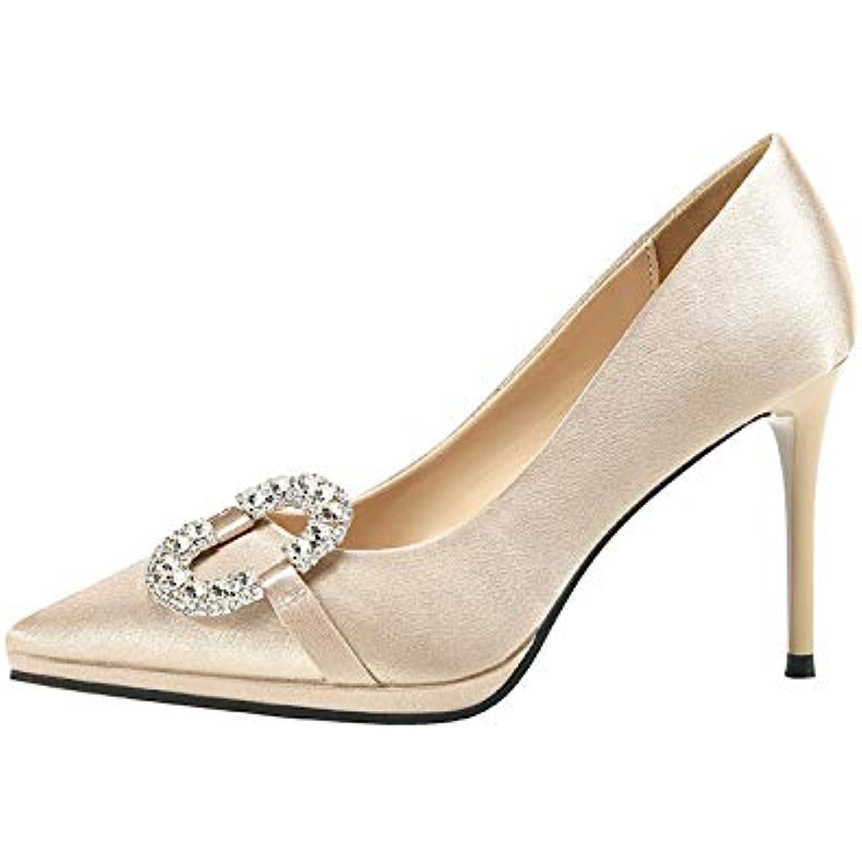 FLYRCX Chaussures de Mariage pour pour pour Femmes en Satin de Soie Talon Aiguille Chaussures Sexy Luxe Strass Strass - B07KCRTVQ6 - 977a52