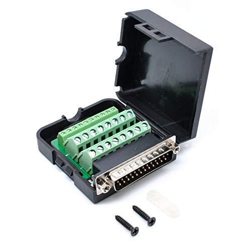 willwin DB25Männlich 25Pins Connector Adapter mit Mutter Terminal Breakout Board Frei Schweißen Male/with Nut -