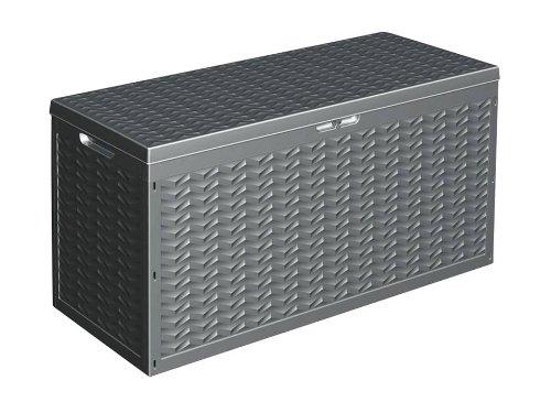 Auflagenbox 320L 120x45x60cm anthrazit Kunststoff Gartenbox Kissenbox