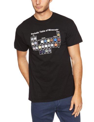 Minecraft T-Shirt Periodic Table, Größe L (Schwein-erwachsenen T-shirt)