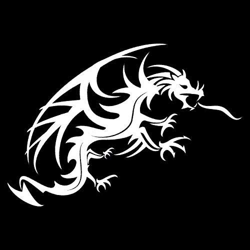 ZHOUMIYU Auto Aufkleber 22 *   15 3 cm Cool Auto Eng Anliegende Drachen Mythologie Kreatur Auto Form Aufkleber Zubehör Schwarz Farbe