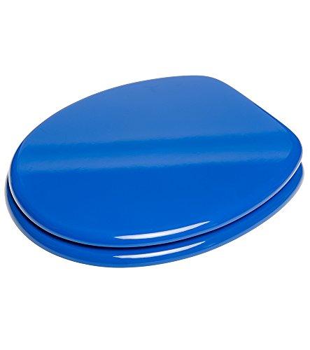 Sanilo WC Sitz mit Absenkautomatik Blau | hochwertige Oberfläche | einfache Montage | stabile Scharniere   A585454