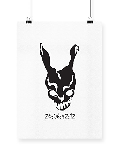 hippowarehouse Donnie Darko Frank Maske Countdown Poster Druck Wall Art Design A4 (Darko Frank Kostüm Halloween Donnie)