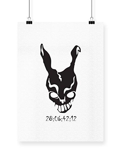 hippowarehouse Donnie Darko Frank Maske Countdown Poster Druck Wall Art Design A4 (Kostüm Frank Halloween Donnie Darko)