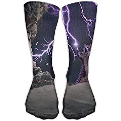 Cats Storm Lightning Fashion Novelty High Athletic Sock Outdoor Gift