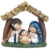 CAPRILO Figura Decorativa Religiosa de Resina Nacimiento con Estrella. Adornos y Esculturas. Belenes.
