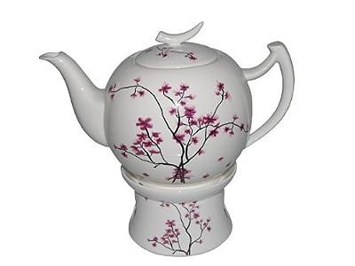 TeaLogic Cherry Blossom Théière avec réchaud 1,5 l