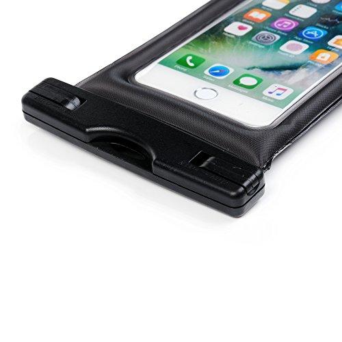 Custodia Impermeabile - STXMALL Cover Impermeabile Universale 6 Pollici Waterproof Cover Subacquea Case Impermeabile con Borsa Pouch per iPhone 7(Plus), 6s/6(Plus), 5/SE/5S/5C, per Samsung Galaxy A5/A Nero