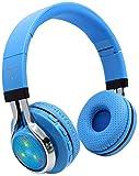 KEMANDUO Bluetooth Kopfhörer, drahtloser Kopfhörer Bluetooth Headset FM Musik/Tägliche Freizeit/Sport Verwenden Sie Folding Bluetooth Card Headset Beleuchtung Bluetooth Headset,B