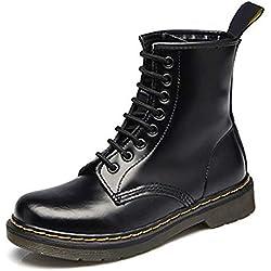 Botas Militares Unisex Adulto QImaoo Moda Invierno Zapatos Boots Botines Botas de Nieve Botas para Hombre Mujer, 40 EU