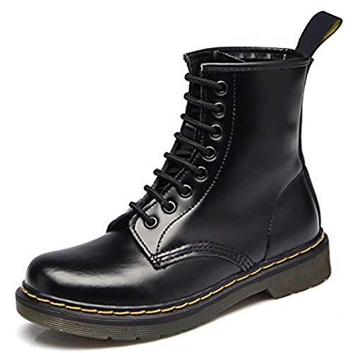 Qimaoo Damen Herren Stiefel Leder Wanderstiefel Wanderschuhe Bergsteigen Stiefel Unisex für Herbst und Winter