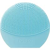 FOREO LUNA Play Plus, Portable Facial Cleansing Brush, Pearl Pink, Replaceable Battery and Waterproof Skin Care Device
