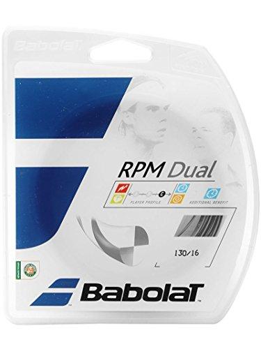 Babolat RPM Dual-Schwarz/Silber-Tennis Saite-12M Set