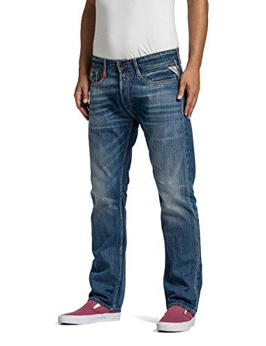 Replay Herren Straight Leg Jeanshose NEWBILL Blau (Blue Denim 007)