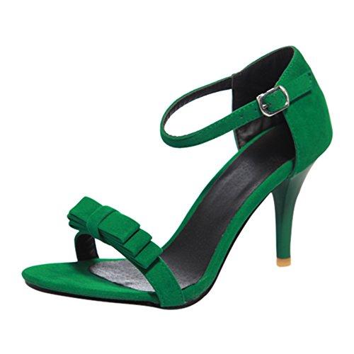 803f1c14c89c79 YE Damen Knöchelriemchen High Heels Sandalen Stiletto Pumps mit Schleife  8cm Absatz Hochzeit Braut Elegant Schuhe