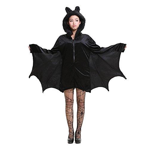 Erwachsene und Kinder gemütliche Fledermaus Kostüm Halloween Cosplay Kostüm für Jungen (Gemütlich Fledermaus Erwachsenen Kostüme)