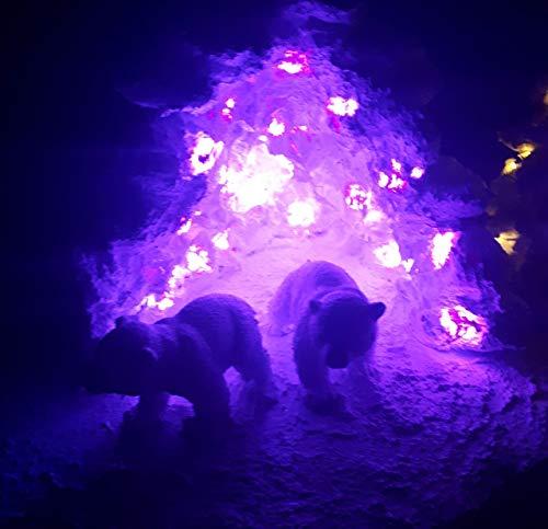 Schiefer Insel mit 2 Eisbärenbabys und einem Belugawal, mit Eishöhle und Licht, Schieferinsel -
