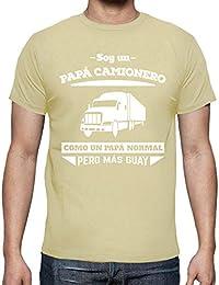 latostadora Camiseta Papá Camionero, como Un Papá Normal Pero Más Guay - Camiseta Hombre clásica