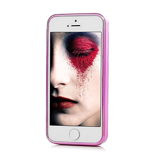 MAXFE.CO TPU Silikon Hülle für iPhone 5 SE Handyhülle Schale Etui Protective Case Cover Rück mit Traumfänger Skin TPU Kantenschutz Treibsand Design Schutzhülle Traumfänger