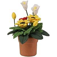 1:12 Puppenhaus Dollhouse Miniatur Blumen Pflanzen Korb Töpfe Puppenstube 2018 Puppenstuben & -häuser