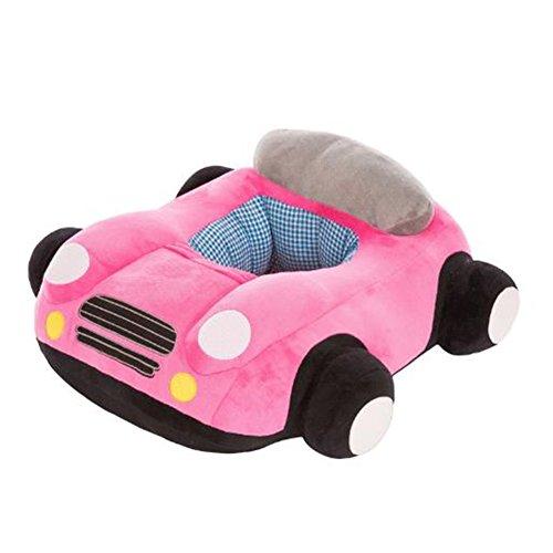 itzend Stuhl Kinderzimmer Kissen Protektoren, Cool Auto-Form Kinder Baby Support Sitz Soft Auto Kissen Sofa Plüsch Spielzeug (Rosa Kunststoff-tabelle-cover)
