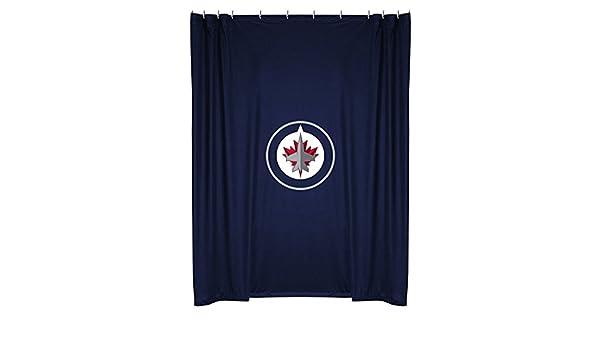 NHL Winnipeg Jets Shower Curtain 72 X Midnight Sports Coverage 05JRSHC5JET7272 Holiday Presents