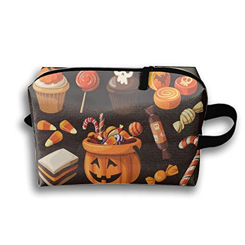 Pencil Pen Zipper Pouch Small Cosmetic Makeup Bags,Halloween Candy and Candy Style