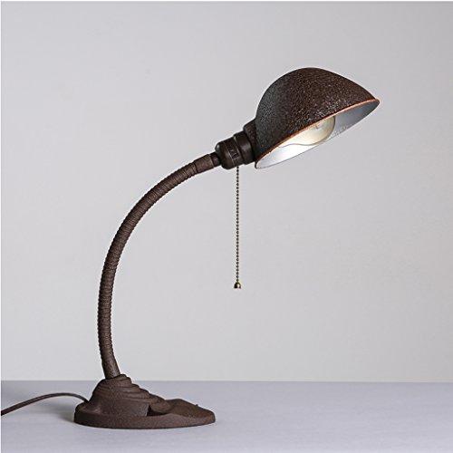 Unbekannt XQQQ - Creative Industry Wind Desktop Schlafzimmer Nachttischlampen Eisen Peeling American Make Old Schreibtisch Lesen Republic Tischlampen (Peeling Natürlich Klar)
