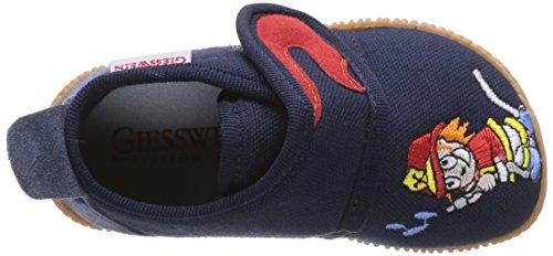 Giesswein Serfaus - Slim Fit, Pantofole bambini Blu (Blau (dk.blau / 548))
