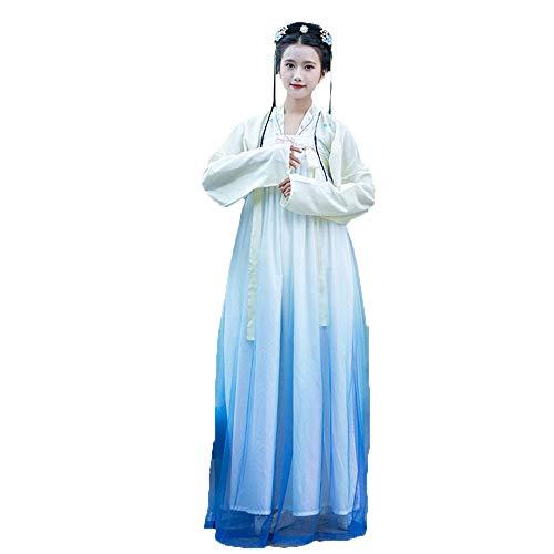 YCWY Antike chinesische Tracht der Frauen, Vintage Chinese Dress gestickt Tang Anzug für Party Foto schießen Hanfy Halloween chinesische Prinzessin Cosplay Kostüme,M -