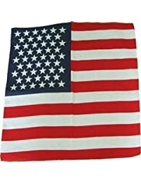 Stars and stripes USA 100 % Cotton Bandana,Scarf,55cm square ,Brand new Item ,Ideal Bikers ,Cowboy parties etc.