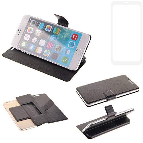 K-S-Trade Schutz Hülle für Vestel V3 5580 Dual-SIM Schutzhülle Flip Cover Handy Wallet Case Slim Handyhülle bookstyle schwarz