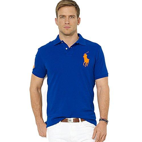Ralph Lauren Herren Poloshirt Big Pony Slim Fit (XXL, Blau)