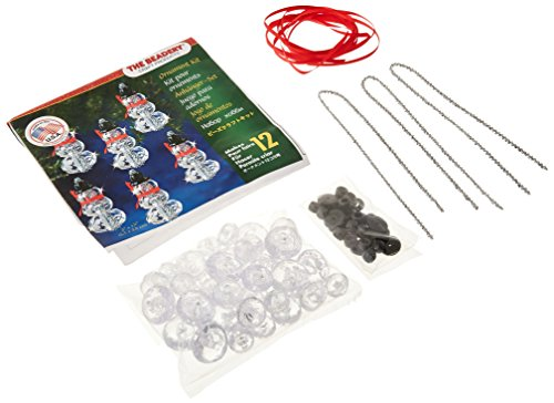 Beadery Kunststoff Holiday Perlen Ornament Kit facettiert Elegante Schneemänner 2Zoll x 1Macht 12 -