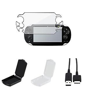 ChannelExpert Full Body Displayschutzfolie+ USB Kabel Für SONY PS Playstation Vita