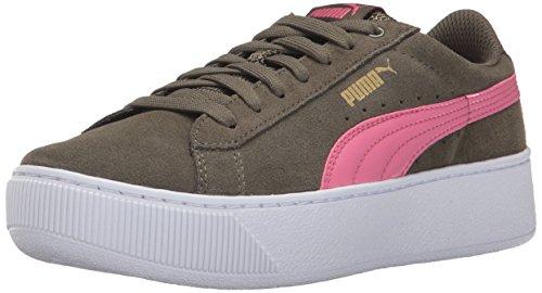 Puma Damen Vikky Platform Sneaker, Olive Night-Rapture Rose, 39 EU - Olive Arch