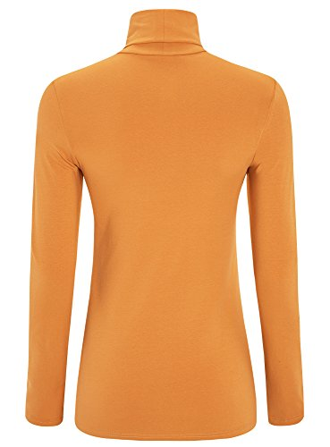 oodji Ultra Damen Rollkragenpullover Basic Orange (5200N)