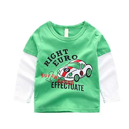 Baby Mädchen Kleider Festlich, Oyedens LangÄrmeliges Cartoon-Druck-Shirt-Shirt Der Kinder, Das Shirt T-Shirt Grundiert
